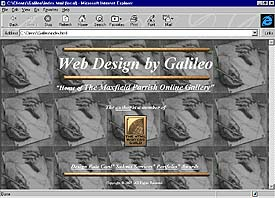 Web Design by Galileo, web site front page